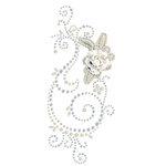 Prima - Say It In Pearls and Crystals Collection - Self Adhesive Jewel Art - Bling - Weathered Front Porch - Clear 2
