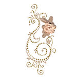 Prima - Say It In Pearls and Crystals Collection - Self Adhesive Jewel Art - Bling - Weathered Front Porch - Brown 2