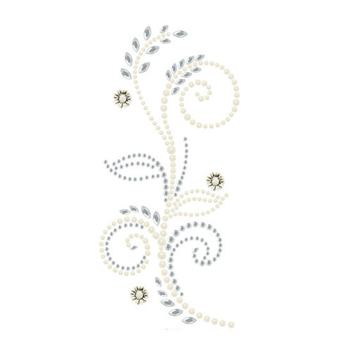 Prima - Say It In Pearls and Crystals Collection - Self Adhesive Jewel Art - Bling - Feathered Hat - Clear