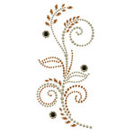 Prima - Say It In Pearls and Crystals Collection - Self Adhesive Jewel Art - Bling - Feathered Hat - Brown, CLEARANCE