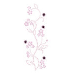 Prima - Say It In Pearls and Crystals Collection - Self Adhesive Jewel Art - Bling - Vintage Spring Blooms - Pink