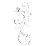 Prima - Say It In Pearls and Crystals Collection - Self Adhesive Jewel Art - Bling - Swan Lake - Clear