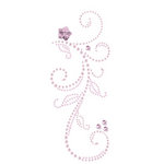 Prima - Say It In Pearls and Crystals Collection - Self Adhesive Jewel Art - Bling - Swan Lake - Pink, CLEARANCE