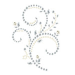 Prima - Say It In Pearls and Crystals Collection - Self Adhesive Jewel Art - Bling - Floral Timepiece - Clear, BRAND NEW