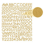 Prima - Textured Alphabet Stickers - Antique Gold, BRAND NEW