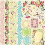 Prima - Sweet Fairy Collection - 12 x 12 Glittered Cardstock Stickers - Journaling