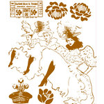 Prima - Moulin Rouge Collection - Clear Acrylic Stamps - Mix 2