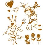 Prima - Sweet Fairy Collection - Clear Acrylic Stamps - Mix 1