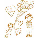 Prima - Celebrate Jack and Jill Collection - Clear Acrylic Stamps - Mix 5