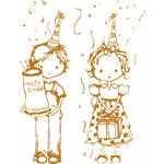 Prima - Celebrate Jack and Jill Collection - Clear Acrylic Stamps - Mix 6