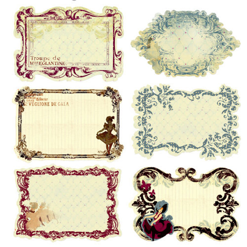 Prima - Moulin Rouge Collection - Journaling Notecards in a Box