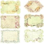 Prima - Botanical Collection - Journaling Notecards in a Box, BRAND NEW