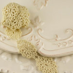 Prima - Alencon Collection - Tea Stained Doily Strand Spool - 30 Yards, CLEARANCE