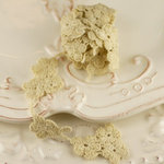 Prima - Alencon Collection - Tea Stained Flower Strand Spool - 30 Yards, CLEARANCE