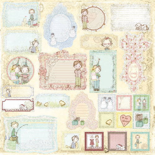 Prima - Celebrate Jack and Jill Collection - Self Adhesive Glittered Chipboard Pieces - Journaling