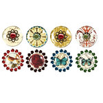 Prima - Pebbles Collection - Self Adhesive Pebbles with Gems - Reflections, BRAND NEW