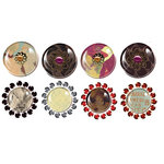 Prima - Pebbles Collection - Self Adhesive Pebbles with Gems - Moulin Rouge