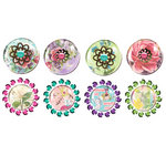 Prima - Pebbles Collection - Self Adhesive Pebbles with Gems - Sweet Fairy