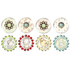 Prima - Pebbles Collection - Self Adhesive Pebbles with Gems - Celebrate Jack and Jill, BRAND NEW