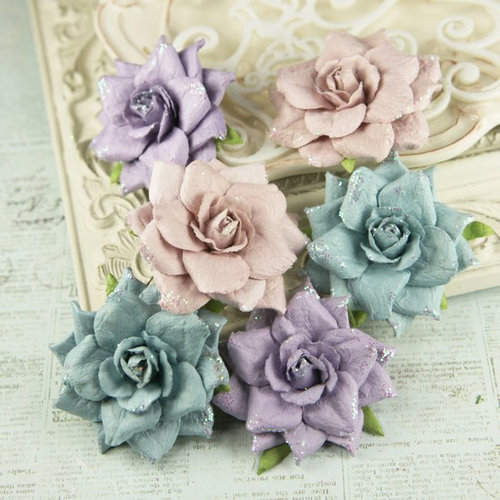 Prima - Arcadian Collection - Flower Embellishments - Violaceous