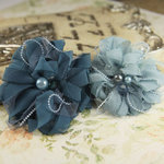 Prima - The Gatsby Collection - Fabric Flower Embellishments - Bay
