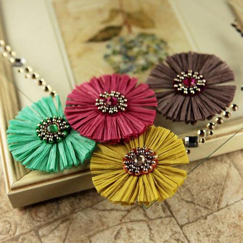 Prima - Raffia Collection - Flower Embellishments - Laelia