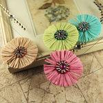 Prima - Raffia Collection - Flower Embellishments - Dew