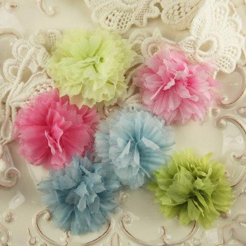 Prima - De Soie Collection - Fabric Flower Embellishments - Suffolk