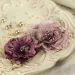 Prima - Heart Desire Collection - Fabric Flower Embellishments - Sachet