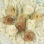 Prima - Champagne Rose Collection - Fabric Flower Embellishments - Limouse
