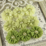 Prima - Delightful Collection - Fabric Flower Embellishments - Starshore