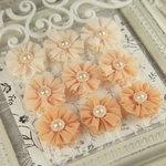 Prima - Delightful Collection - Fabric Flower Embellishments - Aurora