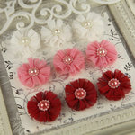 Prima - Delightful Collection - Fabric Flower Embellishments - Glory