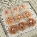 Prima - Delightful Collection - Fabric Flower Embellishments - Glimmer