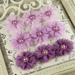 Prima - Delightful Collection - Fabric Flower Embellishments - Twilight