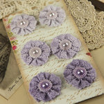 Prima - Classic Lace Collection - Fabric Flower Embellishments - Chantilly