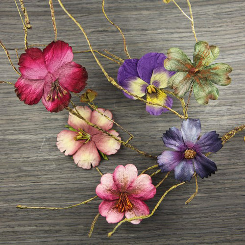 Prima - Bella Notte Collection - Flower Embellishments - Brunswick