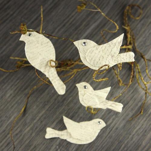 Prima - Birdsong Collection - Bird Embellishments - Script, BRAND NEW