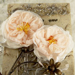 Prima - Parfait Collection - Fabric Flower Embellishments - Blush