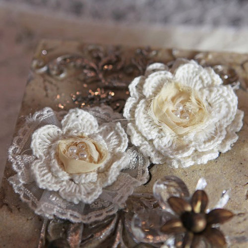 Prima - Annette Collection - Fabric Flower Embellishments - Amorette