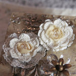 Prima - Annette Collection - Fabric Flower Embellishments - Amorette