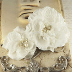 Prima - Annette Collection - Fabric Flower Embellishments - Mia