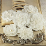 Prima - Annette Collection - Fabric Flower Embellishments - Belina