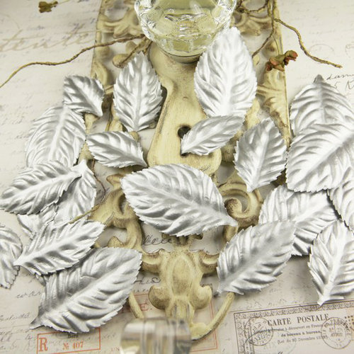 Prima - Precious Metals Collection - Flower Embellishments - Ice