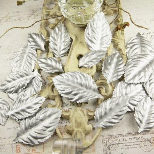 Prima - Precious Metals Collection - Flower Embellishments - Ice