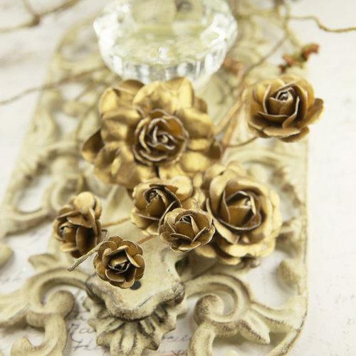 Prima - Precious Metals Collection - Flower Embellishments - Honey