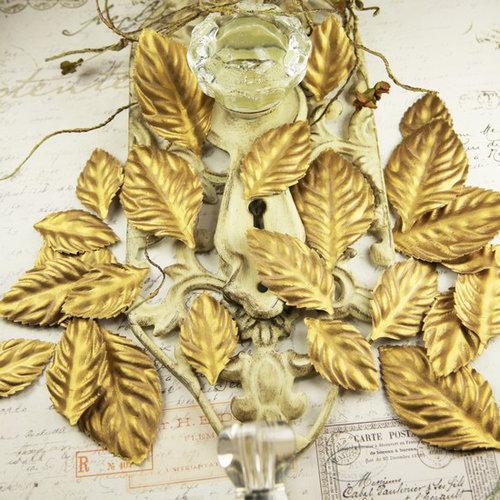 Prima - Precious Metals Collection - Flower Embellishments - Gilded