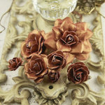 Prima - Precious Metals Collection - Flower Embellishments - Chestnut