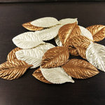 Prima - Lovely Collection - Fabric Leaves Embellishments - Mix 3