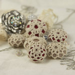 Prima - Cute as a Button Collection - Flower Center Embellishments - Fetching